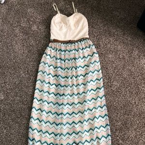Lily rose striped maxi dress